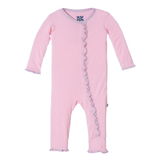 Kickee Pants Holiday Muffin Ruffle Applique Coverall