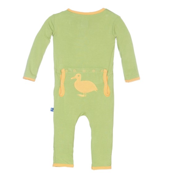 Kickee Pants Holiday Fitted Applique Coverall