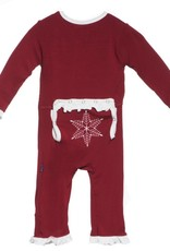 Kickee Pants Ruffle Holiday Applique Coverall