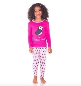 Kickee Pants 2 PC LS PJ Set. Girl