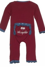 Kickee Pants ruff coverall.little sparkler.nb
