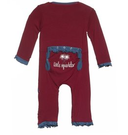 Kickee Pants ruff coverall.little sparkler.12-18m
