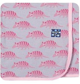 Kickee Pants Print Swaddling Blanket.Feather Armadillo