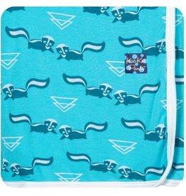Kickee Pants Print Swaddle Blanket.Confetti Skunk
