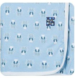 Kickee Pants Print Swaddle Blanket.Pond Scarab
