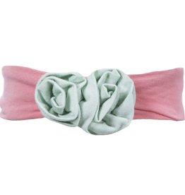 Kickee Pants Solid Flower Headband.Desert Rose with Aloe