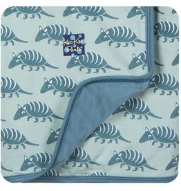 Kickee Pants Print Stroller Blanket.Aloe Armadillo