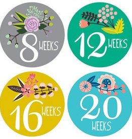 Lucy Darling FLORAL HAND LETTERING BELLY STICKERS