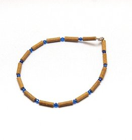 Momma Goose HWOOD NECKALCE.BLUE.S