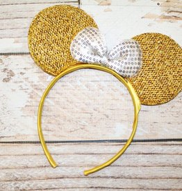 Lincoln&Lexi Sparkly Minnie Headband.Yellow/White