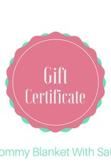Lincoln&Lexi Mommy Blanket with Satin Gift Certificate