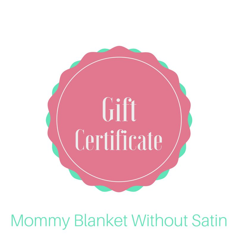 Lincoln&Lexi Mommy Blanket without Satin Gift Certificate