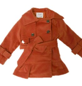 Dino Bebe RUFFLED TRENCH COAT.ORANGE.3