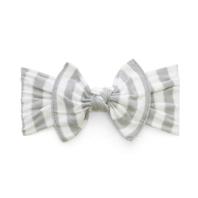 Baby Bling Patterned Knot (Grey Stripe)