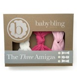 Baby Bling Three Amigas ( Knot/Sailor/Twist) (HP/WH/PK)