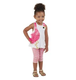 Mud Pie FLAMINGO TUNIC & CAPRI SET