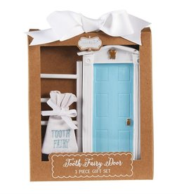 Mud Pie BLUE TOOTH FAIRY DOOR