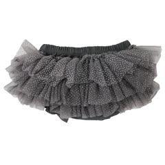 juDanzy sparkle tutu diaper cover.charcoal.0-6m