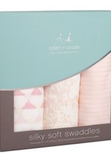 aden+anais metallic primrose birch 3pack silky soft swaddles