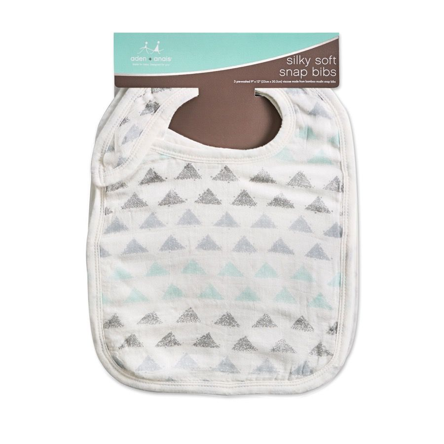 aden+anais metallic skylight birch 3-pack silky soft snap bibs