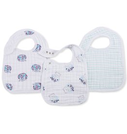 aden+anais thistle 3-pack classic snap bibs