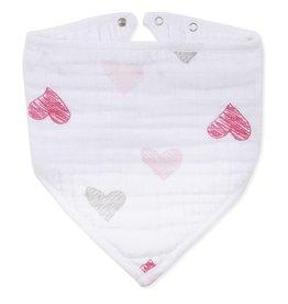 aden+anais Lovebird Sketch Hearts Bandana Bib