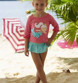 Mud Pie MERMAID RASH GUARD & BIKINI SET