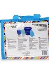 CHEWBEADS Tubby To Go - Travel Bath Set.Blue