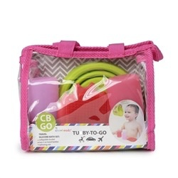 CHEWBEADS Tubby To Go - Travel Bath Set.Pink