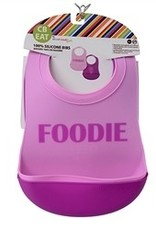 CHEWBEADS Foodie (Pink/Purple) Bib 2 PK