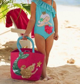 Mud Pie MERMAID DAZZLE TOTES.PINK