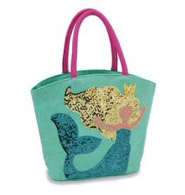 Mud Pie MERMAID DAZZLE TOTES.Aqua