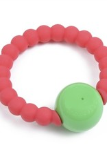 CHEWBEADS MERCER RATTLE.PUNCHY PINK