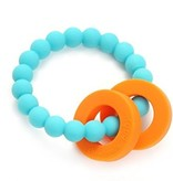 CHEWBEADS MULBERRY TEETHER-TURQUOISE