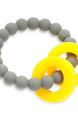 CHEWBEADS MULBERRY TEETHER-STORMY GREY