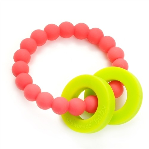 CHEWBEADS MULBERRY TEETHER-PUNCHY PINK