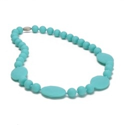 CHEWBEADS PERRY NECK-TURQUOISE