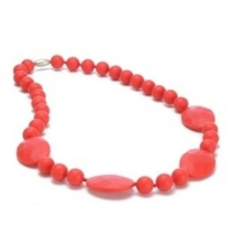 CHEWBEADS PERRY NECK-CHERRY RED