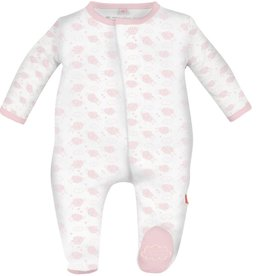 Magnificent Baby Pink Counting Sheep Modal Footie