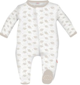 Magnificent Baby Grey Counting Sheep Modal Footie