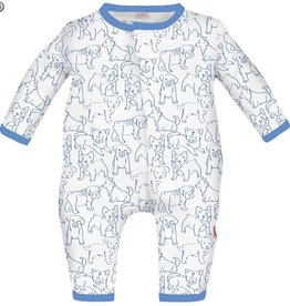 Magnificent Baby Blue Puppies Modal Coveralls