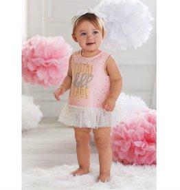Mud Pie DOLL BABY DRESS & BLOOMER SET INFANT KIT