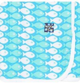 Kickee Pants Print Swaddling Blanket (Confetti Piranha - One Size)