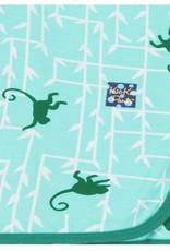 Kickee Pants Print Swaddling Blanket (Glass Forest Monkey - One Size)
