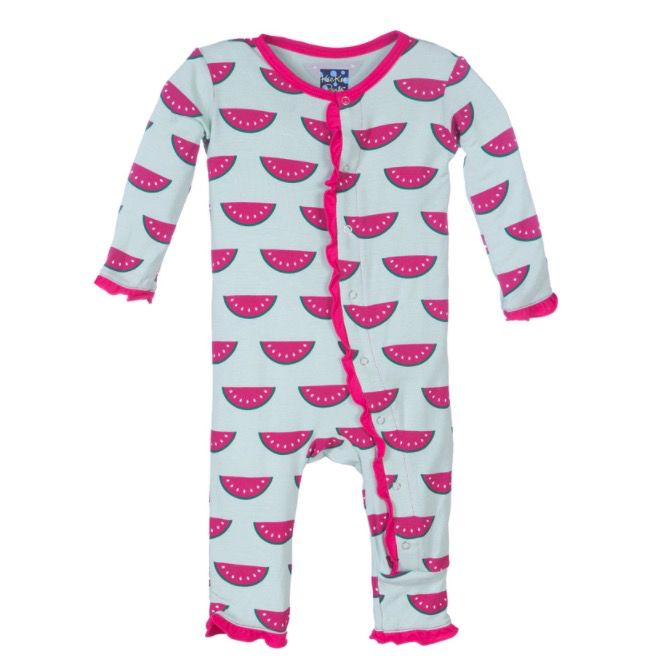 Kickee Pants Print Muffin Ruffle Coverall