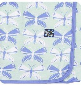 Kickee Pants Print Swaddling Blanket (Aloe Butterfly - One Size)