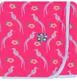 Kickee Pants Print Swaddling Blanket (Bird of Paradise - One Size)