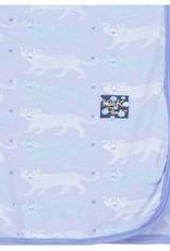 Kickee Pants Print Swaddling Blanket (Lilac Leopard - One Size)