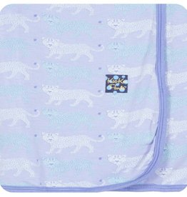 Kickee Pants Print Swaddling Blanket (Lilac Leopard - One Size)