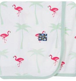 Kickee Pants Print Swaddling Blanket (Natural Flamingo - One Size)
